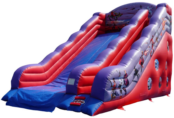 Action Hero's Fansastic Four Giant Fairgorund Fun Fair Event Mega Slide