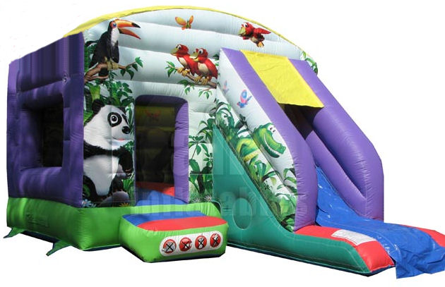 12x18ft Jungle - Bounce 'n' Slide Bouncy Castle