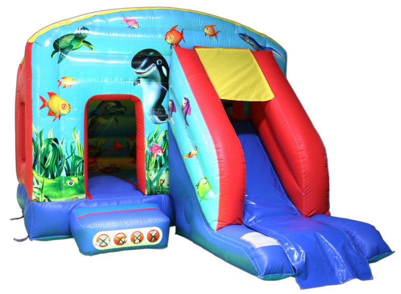 12x18ft Undersea - Bounce 'n' Slide Bouncy Castle