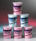 Tubs of Freshly Spun Candy Floss Cotton Candy